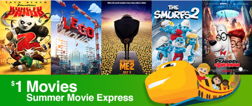Regal Summer Movie Express – $1 Movies
