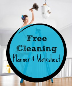 Free cleaning planner and worksheet via BargainBriana