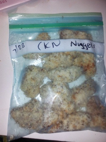Freezer Chicken Nuggets DIY