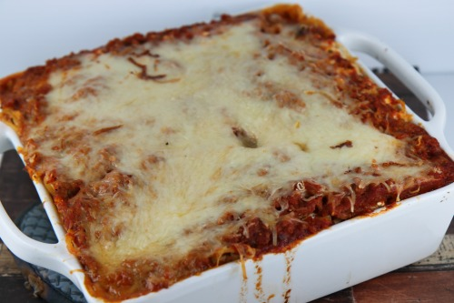 Freezer Friendly Baked Spaghetti