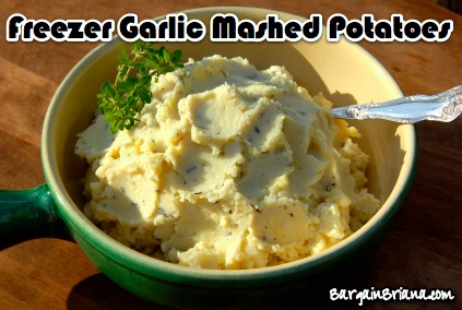 Freezer Garlic Mashed Potatoes
