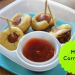 {Freezer to Lunchbox} Mini Corndogs #backtoschool
