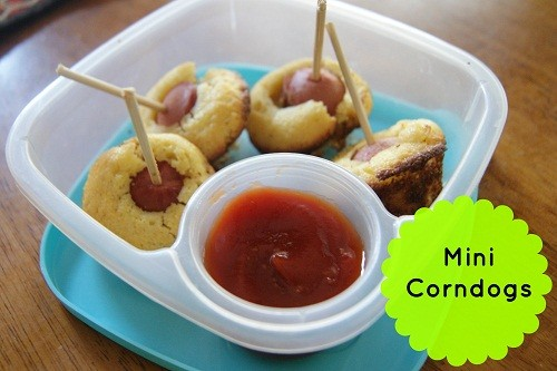 {Freezer to Lunchbox Series} Mini Corndogs