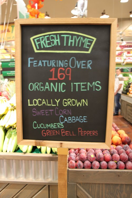 Fresh Thyme Organic Produce