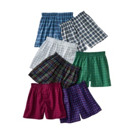 Fruit of the Loom Boys Fruit of the Loom Tartan Boxers (7 pk) $7 Shipped!
