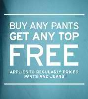 Gap: Buy Any Pant, Get Any Top Free