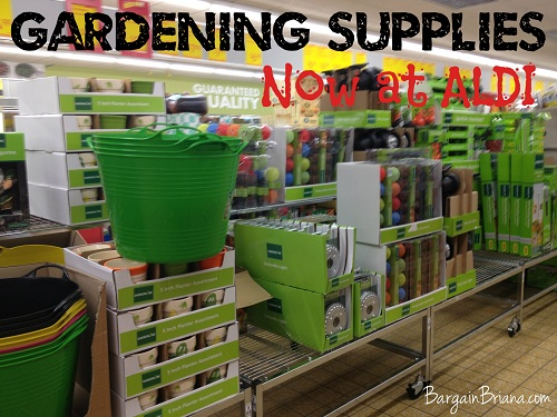 Gardening and Yard Sale at ALDI