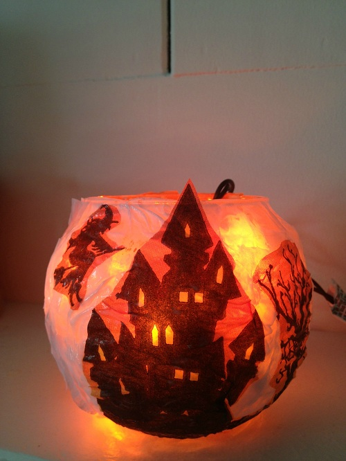 Glowing Haunted House