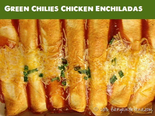 Green Chili Chicken Enchiladas with Del Monte Tomatoes
