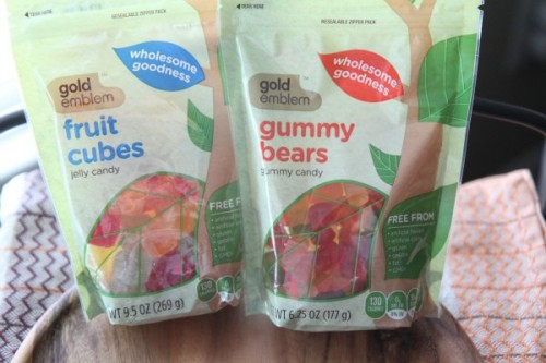 Gummy Bears and Fruit Cubes