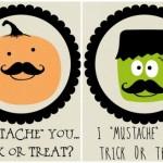 Halloween Mustache Printables