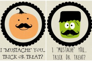 Free Download: Mustache Halloween Printables