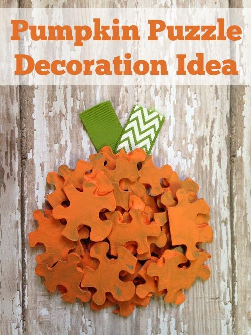 Halloween Pumpkin Puzzle Pieces Idea