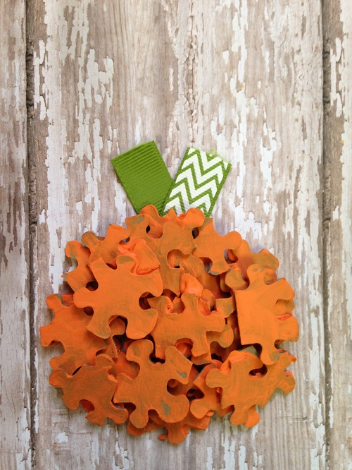 Halloween Pumpkin Puzzle Pieces