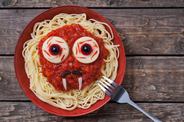 turning everyday dinners into spooky meals - Scary Halloween Meatballs