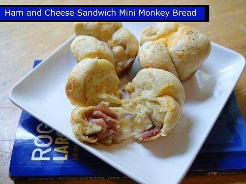 Ham and Cheese Sandwich Mini Monkey Bread