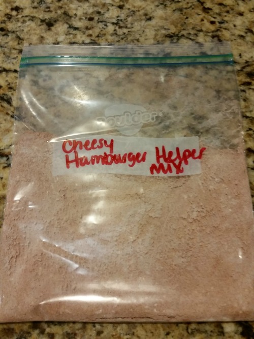 Hamburger Helper Spice Pack Homemade