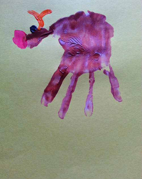 Handprint Rudolph Handprint Rudolph The Red Nose Reindeer Craft