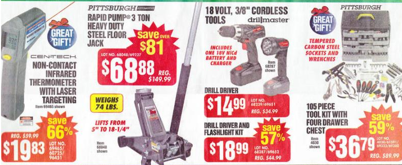 Harbor Freight Tools Black Friday Ad 2013