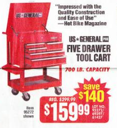 harbor freight tools black friday ad five drawer tool cart