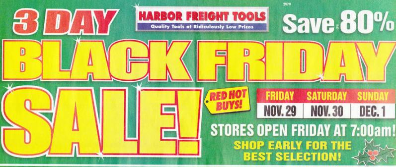 Harbor Freight Tools Black Friday Ad