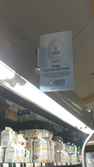 Hatch for Hunger Signage at Kroger