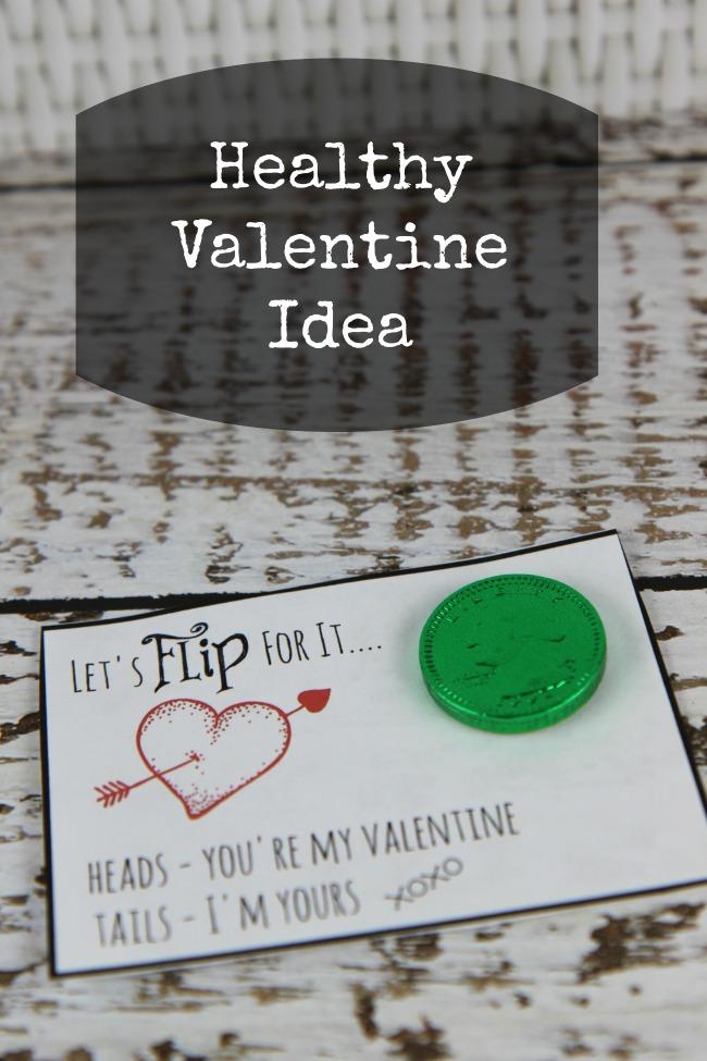 Healthy Valentine Idea Let's Flip for It Quarter