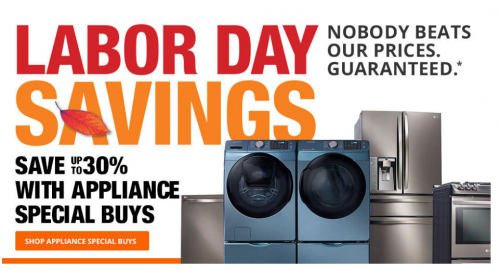 Home Depot Labor Day Sales