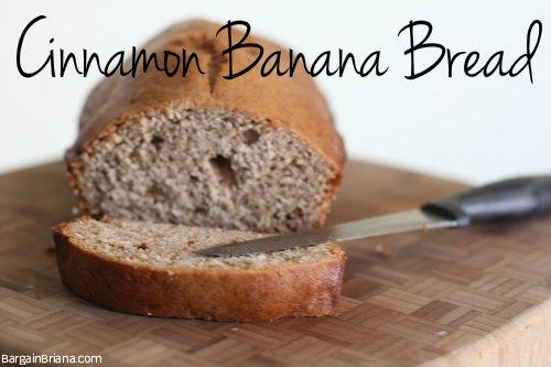 Homemade Cinnamon Banana Bread