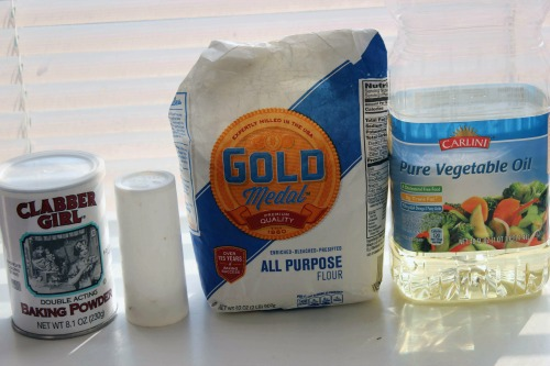 Homemade Flour Tortillas Ingredients