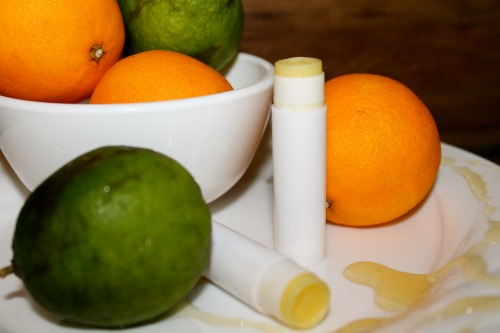 Homemade Honey Citrus Lipbalm
