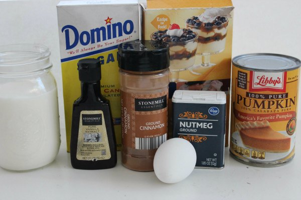 Homemade Pumpkin Pudding Ingredients