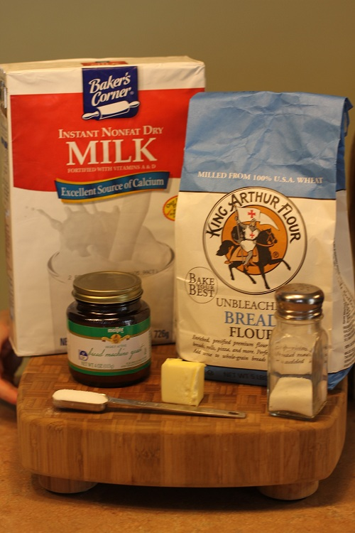 Honey Oatmeal Bread Ingredients