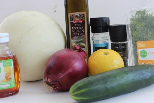 Honeydew Cucumber Salad Ingredients