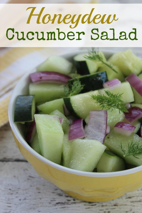 Honeydew Cucumber Salad Recipe