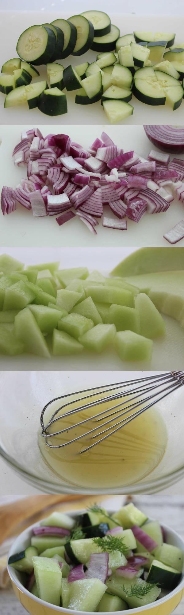 Honeydew Cucumber Salad for Summer Salad
