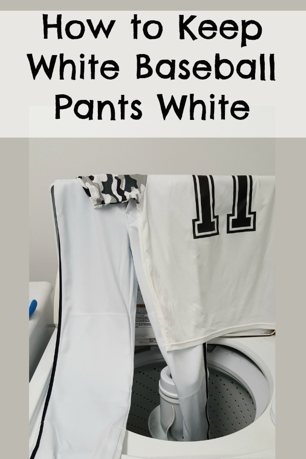 How to Keep White Baseball Pants White