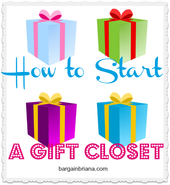 How to Start a Gift Closet via @BargainBriana