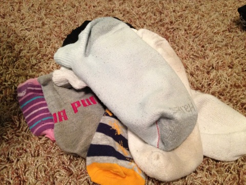 {Spring Cleaning} Decluttering the Stray Sock Basket