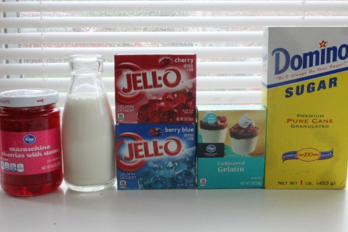Independence Day Red White  Blue Jell-O Cups Ingredients