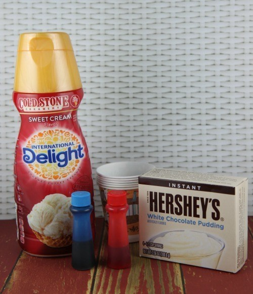 Independence Day Sweet Cream Pudding Pops Ingredients