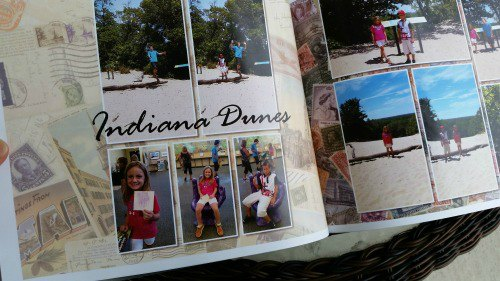 Indiana Dunes Memories Page in CVS Photo Book