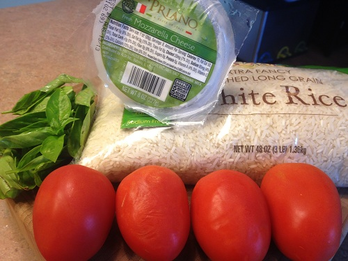Ingredients for Mozzarella Tomato Hard Rice