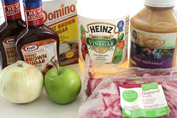 Ingredients for Slow Cooker Applesauce Barbecue Spareribs