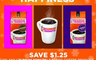 Save $1.25 On Dunkin' Donuts Bagged Coffee at Dollar General