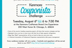 Kenmore Couponista Challenge Event on 8/6 in Chicago