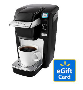 Keurig mini plus personal coffee brewer 99 20 walmart gift card