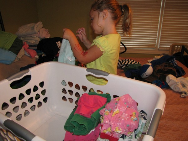 Kids Doing Laundry