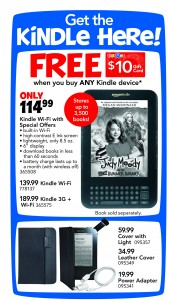 Kindle 169x300 Toys R Us:  Kindle $114.99 + $10 Gift Card