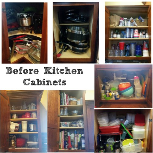 Kitchen Cabinets Before Organization